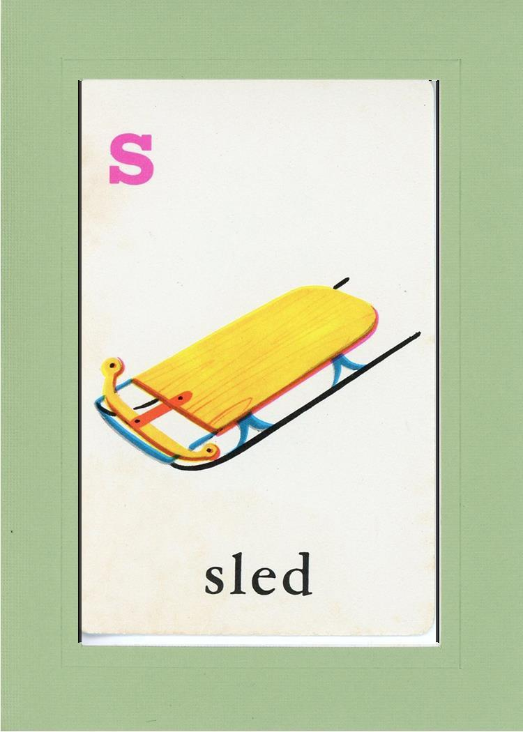 S is for Sled-Alphabet Soup-Plymouth Cards