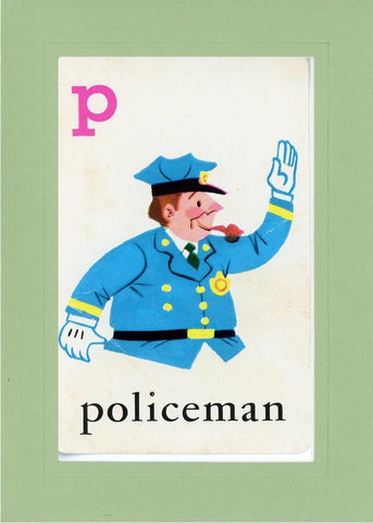 P is for Policeman - PLYMOUTH CARD COMPANY  - 24