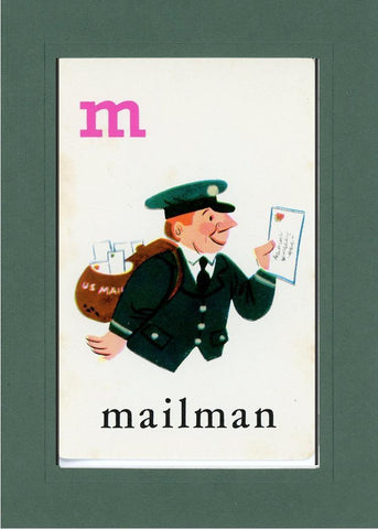 M is for Mailman - PLYMOUTH CARD COMPANY  - 33