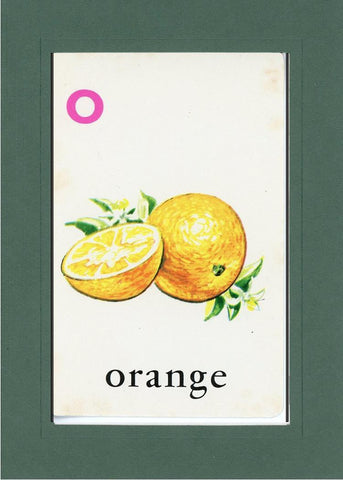 O is for Orange - PLYMOUTH CARD COMPANY  - 25