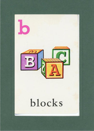 B is for blocks - PLYMOUTH CARD COMPANY  - 33