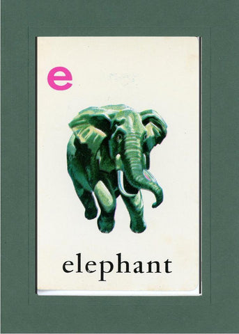 E is for Elephant - PLYMOUTH CARD COMPANY  - 34