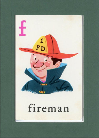F is for Fireman - PLYMOUTH CARD COMPANY  - 33