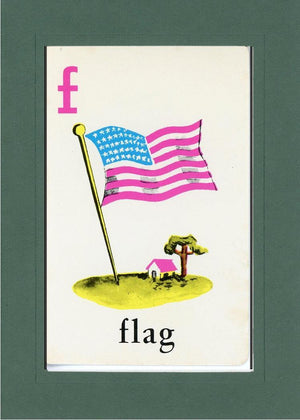 F is for Flag - PLYMOUTH CARD COMPANY  - 18