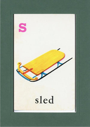S is for Sled - PLYMOUTH CARD COMPANY  - 26