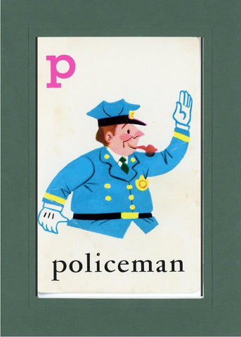 P is for Policeman - PLYMOUTH CARD COMPANY  - 25