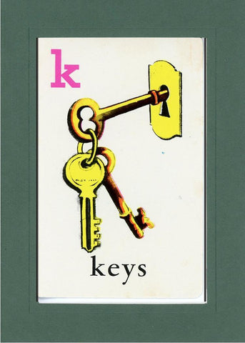 K is for Keys - PLYMOUTH CARD COMPANY  - 33