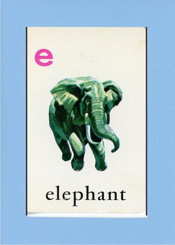 E is for Elephant - PLYMOUTH CARD COMPANY  - 28