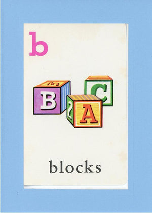 B is for blocks - PLYMOUTH CARD COMPANY  - 27