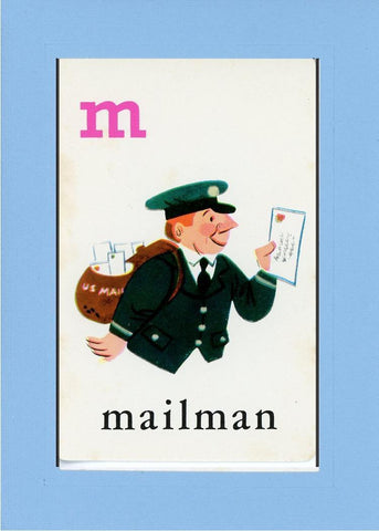 M is for Mailman - PLYMOUTH CARD COMPANY  - 27