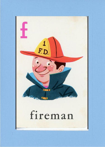 F is for Fireman - PLYMOUTH CARD COMPANY  - 27