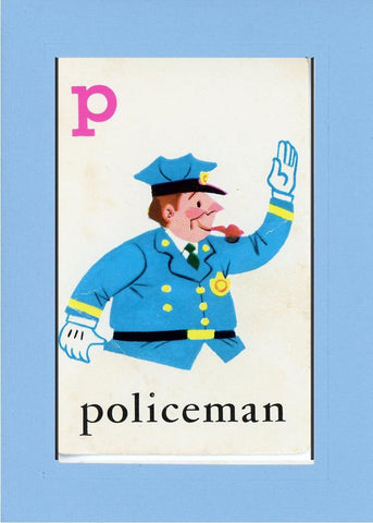 P is for Policeman - PLYMOUTH CARD COMPANY  - 26