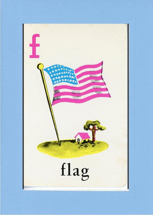 F is for Flag - PLYMOUTH CARD COMPANY  - 19