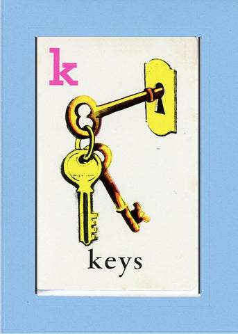 K is for Keys - PLYMOUTH CARD COMPANY  - 27