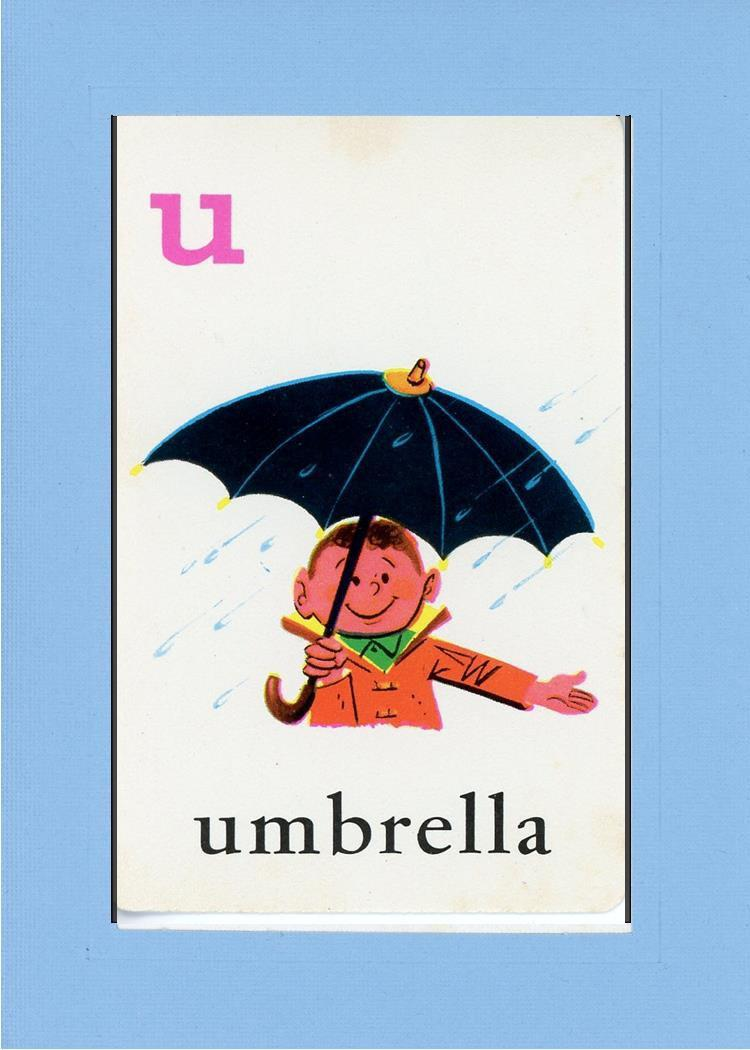 U is for Umbrella-Alphabet Soup-Plymouth Cards