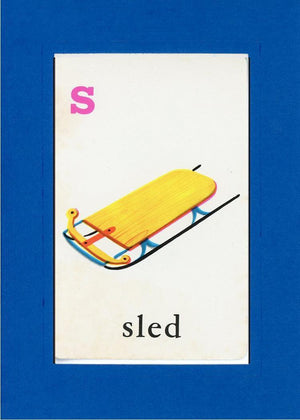 S is for Sled - PLYMOUTH CARD COMPANY  - 28