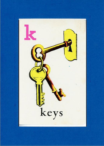 K is for Keys - PLYMOUTH CARD COMPANY  - 22