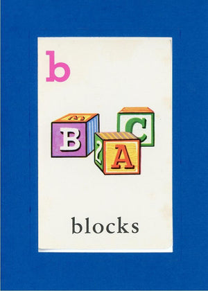 B is for blocks - PLYMOUTH CARD COMPANY  - 22