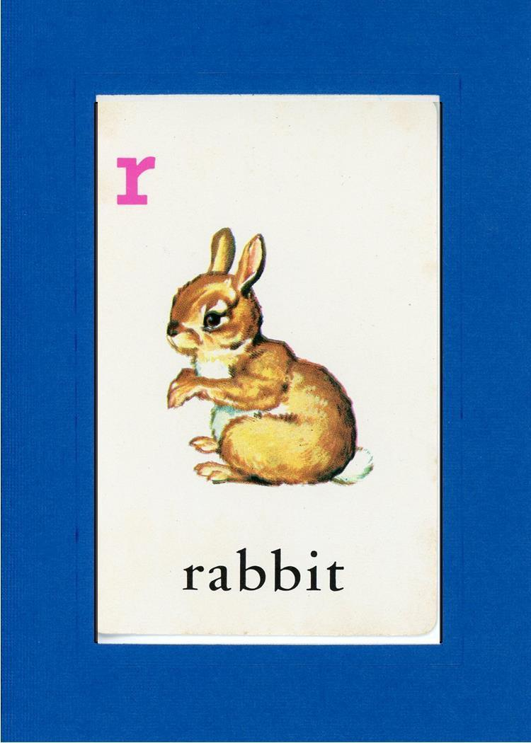 R is for Rabbit-Alphabet Soup-Plymouth Cards