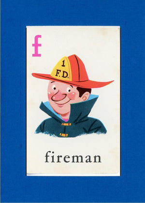 F is for Fireman - PLYMOUTH CARD COMPANY  - 23