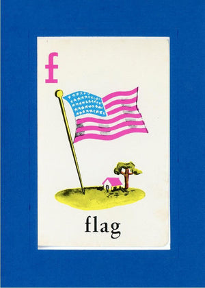 F is for Flag - PLYMOUTH CARD COMPANY  - 20