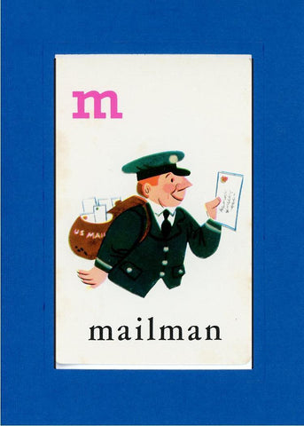 M is for Mailman - PLYMOUTH CARD COMPANY  - 22