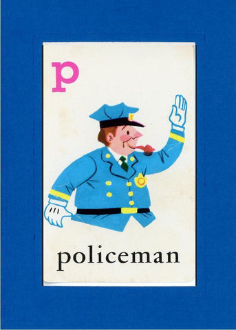 P is for Policeman - PLYMOUTH CARD COMPANY  - 27