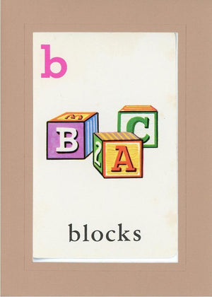 B is for blocks - PLYMOUTH CARD COMPANY  - 26
