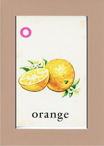 O is for Orange - PLYMOUTH CARD COMPANY  - 28