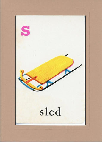 S is for Sled - PLYMOUTH CARD COMPANY  - 29