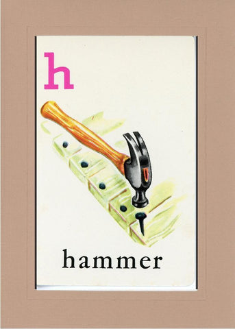 H is for Hammer - PLYMOUTH CARD COMPANY  - 27