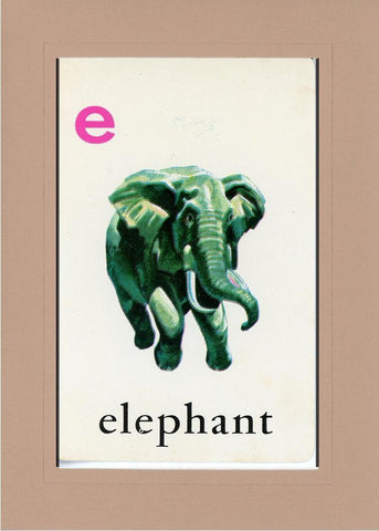 E is for Elephant - PLYMOUTH CARD COMPANY  - 27