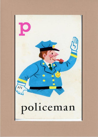 P is for Policeman - PLYMOUTH CARD COMPANY  - 28