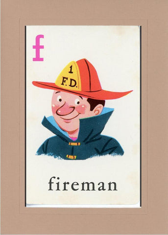 F is for Fireman - PLYMOUTH CARD COMPANY  - 26