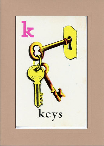 K is for Keys - PLYMOUTH CARD COMPANY  - 26