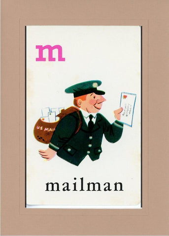 M is for Mailman - PLYMOUTH CARD COMPANY  - 26