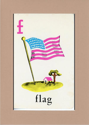 F is for Flag - PLYMOUTH CARD COMPANY  - 21