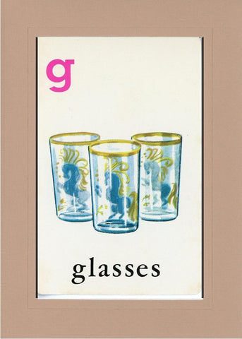 G is for Glasses - PLYMOUTH CARD COMPANY  - 26