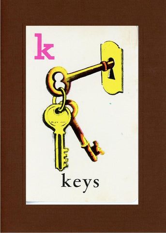 K is for Keys - PLYMOUTH CARD COMPANY  - 20