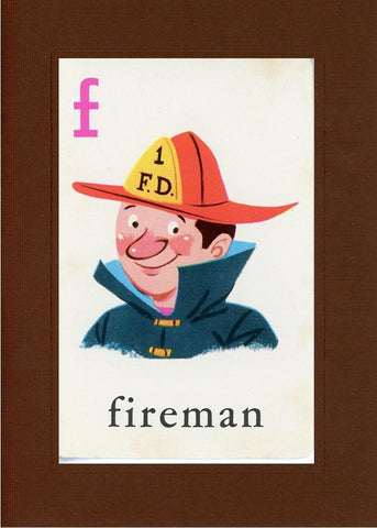 F is for Fireman - PLYMOUTH CARD COMPANY  - 20