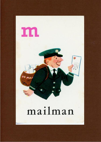 M is for Mailman - PLYMOUTH CARD COMPANY  - 19