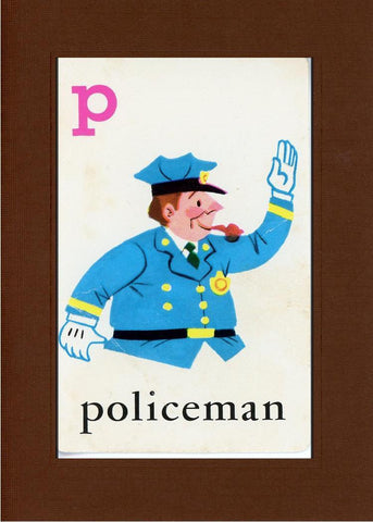 P is for Policeman - PLYMOUTH CARD COMPANY  - 29