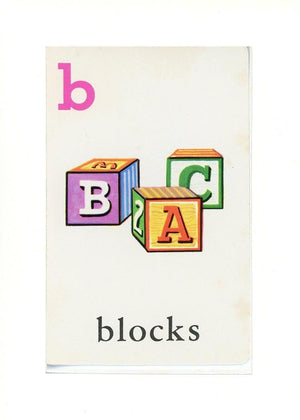 B is for blocks - PLYMOUTH CARD COMPANY  - 32