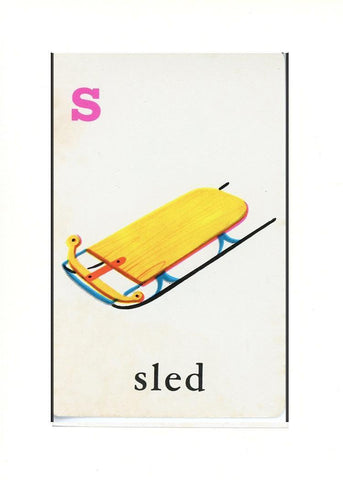 S is for Sled - PLYMOUTH CARD COMPANY  - 31
