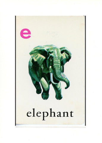 E is for Elephant - PLYMOUTH CARD COMPANY  - 33