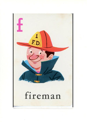 F is for Fireman - PLYMOUTH CARD COMPANY  - 32