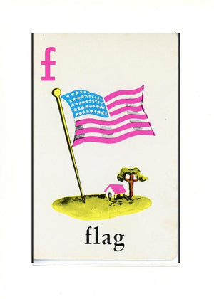 F is for Flag - PLYMOUTH CARD COMPANY  - 23