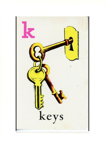 K is for Keys - PLYMOUTH CARD COMPANY  - 32