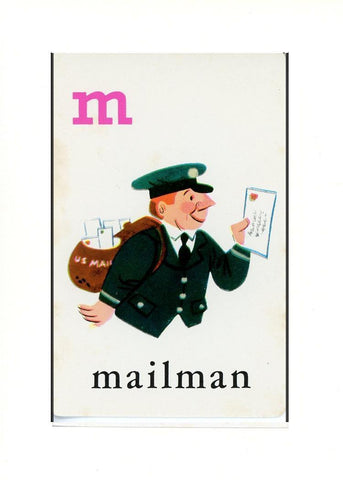 M is for Mailman - PLYMOUTH CARD COMPANY  - 32