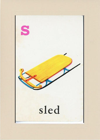 S is for Sled - PLYMOUTH CARD COMPANY  - 32
